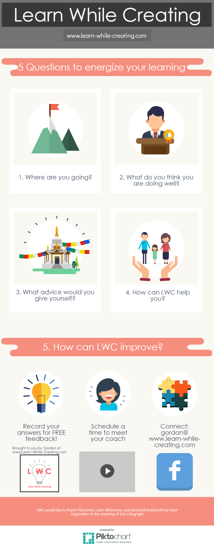 5 Questions infograph